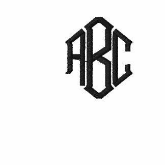 White Basic Sweatshirt Embroidered Monogram