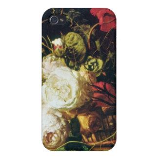 White Basket of Flowers, Jan van Huysum flowers iPhone 4/4S Cover