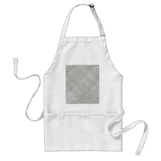 White Basket weave Pattern Apron