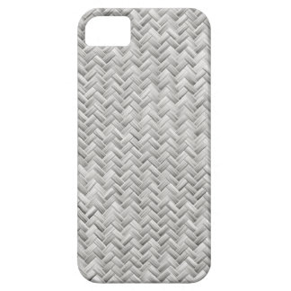 White Basket weave Pattern iPhone 5 Covers