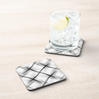 White basket weave texture. coaster