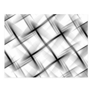 White basket weave texture. postcard