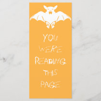White Bat Bookmark Template