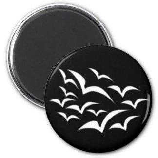 White Bat Cloud Magnet