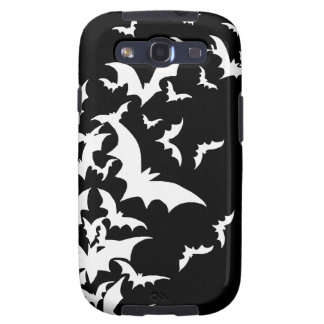 White Bats on Black Galaxy S3 Case