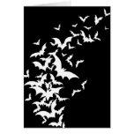 White Bats on Black Greeting Card