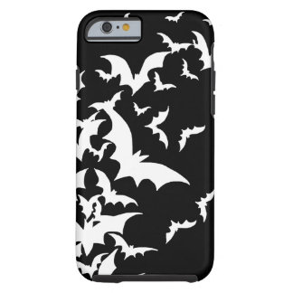 White Bats on Black iPhone 6 Case