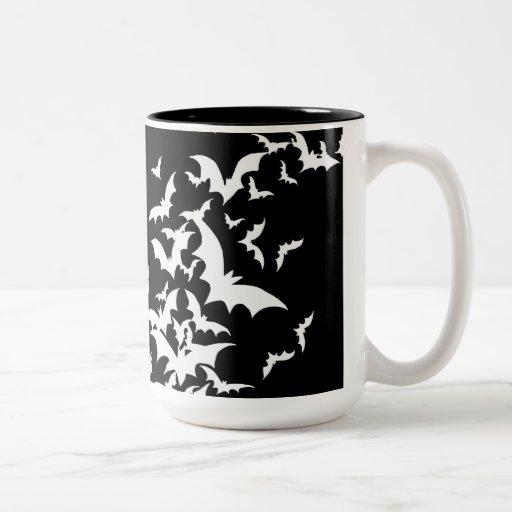 White Bats on Black Mug