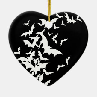 White Bats on Black Ornaments