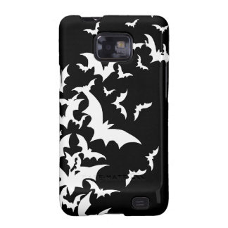 White Bats on Black Samsung Galaxy S2 Case