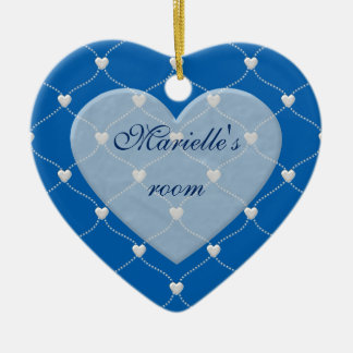 white bauble hearts home decors and gifts ceramic ornament