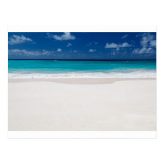 White Beach and Blue Sky Postcard