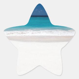 White Beach and Blue Sky Star Sticker