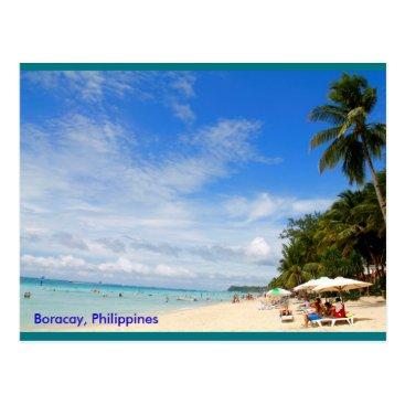 Beach Themed White Beach, Boracay Postcard