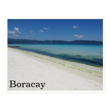 Beach Themed white beach boracay postcard