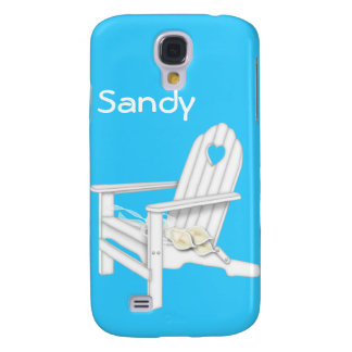 White Beach Chair & Flowers Iphone 3 Speck Galaxy S4 Case