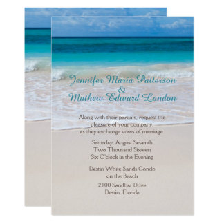 White Beach Custom Wedding Invitation