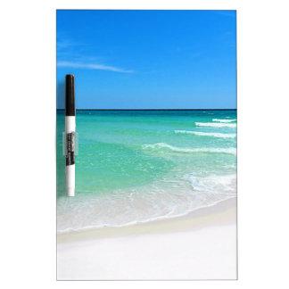 White Beach Dry Erase Board