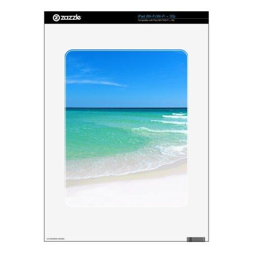 White Beach iPad Skins
