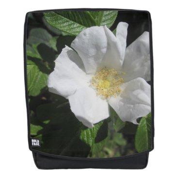 Beach Themed White Beach Plum Rose Backpack