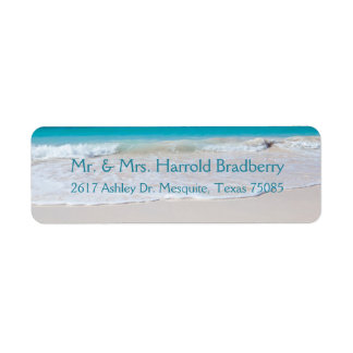 White Beach Return Address Label