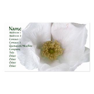 White Beach Rose Business Card