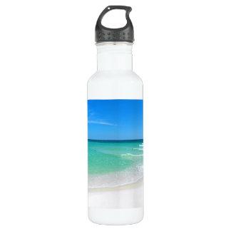 White Beach Stainless Steel Water Bottle