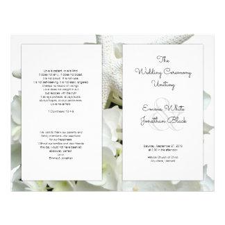 White Beach Theme Wedding Program