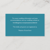 White Beach Wedding Enclosure Card
