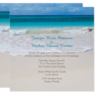 White Beach Wedding Invitation