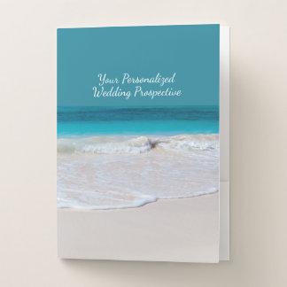 White Beach Wedding Planner Pocket Folders