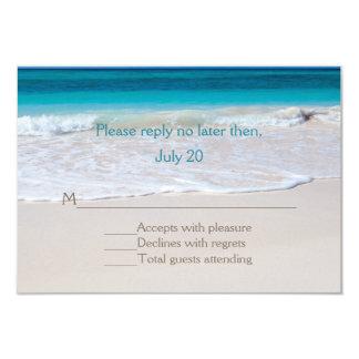 White Beach Wedding RSVP Card