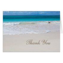 White Beach Wedding Thank You Note Card