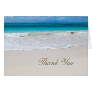 White Beach Wedding Thank You Note Card