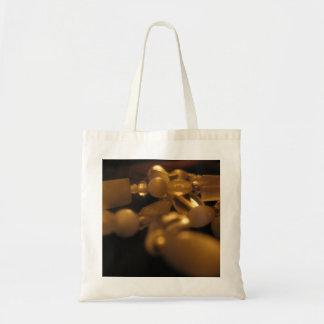 """""""White Beaded Bracelets"""" Tote Bag"""