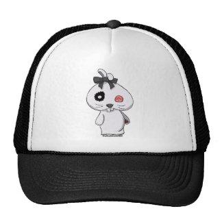 White Beanbag Bunny Trucker Hat