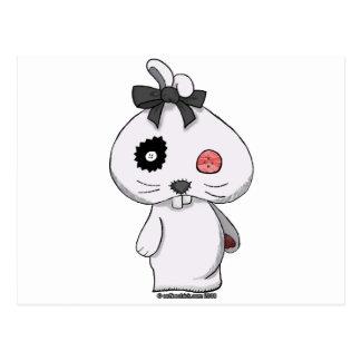 White Beanbag Bunny Postcard