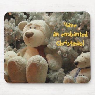 White bear Christmas mousepad mousepad