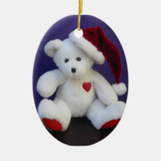 White Bear Christmas Ornament
