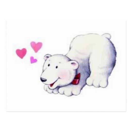 white bear post card