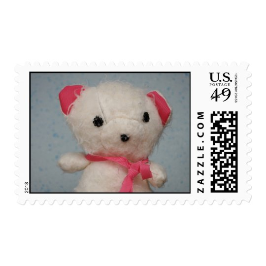 White bear toy postage stamp