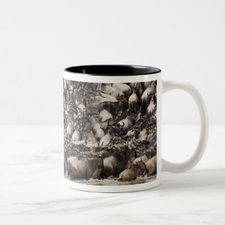 White-bearded Wildebeest or Gnu, Connochaetes Two-Tone Coffee Mug