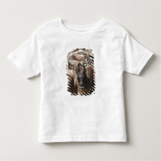 White-bearded Wildebeest with Wattled Starling Toddler T-shirt