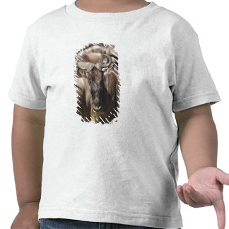 White-bearded Wildebeest with Wattled Starling T Shirt