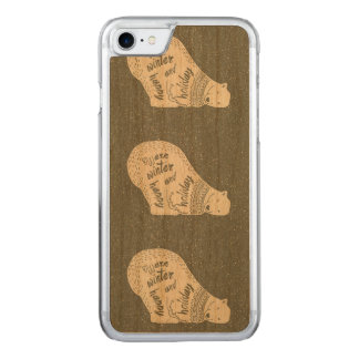 White bears warm winter happy holiday - Xmas Carved iPhone 7 Case