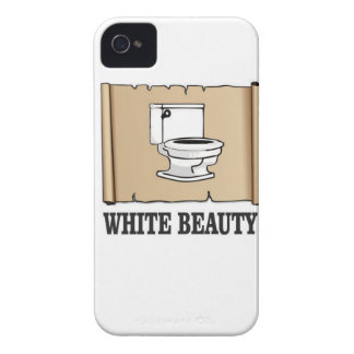 white beauty toilet iPhone 4 case