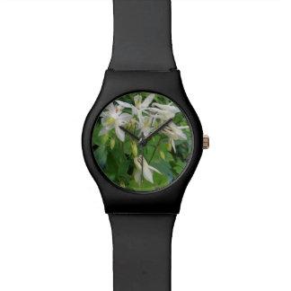 White beauty wristwatch