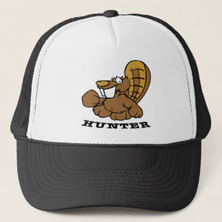 White Beaver Hunter Trucker Hat