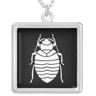 White Bedbug Insect Necklace