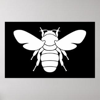 White Bee Art Print